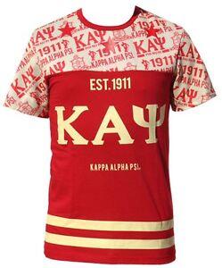 1047452d2e4 Image is loading Kappa-Alpha-Psi-Fraternity-Mens-Sub-Jersey-Crimson-