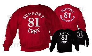 Details about SUPPORT 81 KENT HELLS ANGELS ENGLAND Sweat Shirt Pullover  Jumper BIG RED MACHINE