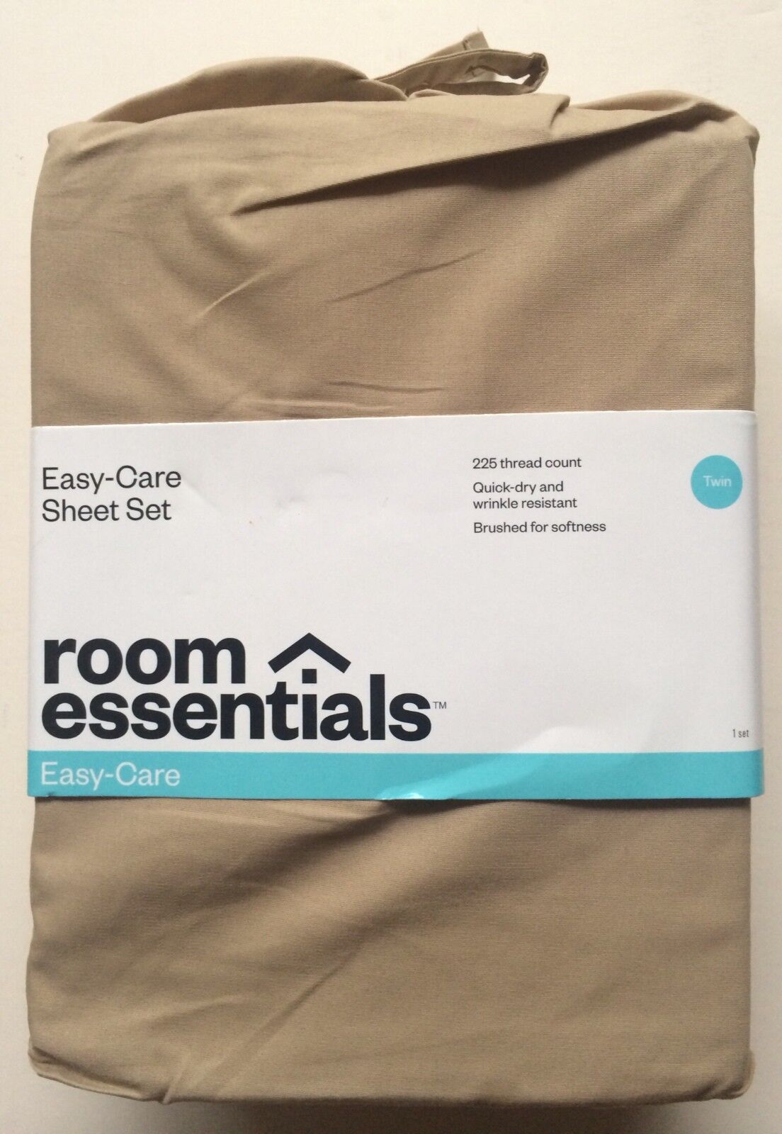 Room Essentials Easy Care Care Care Twin Größe Sheet Set - Farbe  Tan - Brand New Sealed d4b507