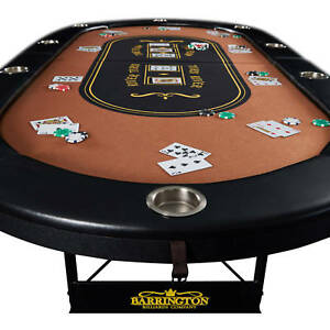 Image Is Loading Barrington 10 Player Poker Table In Home Game