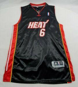 Vtg Miami Heat Lebron James Adidas Stitched Sewn NBA Jersey Sz 54 ...