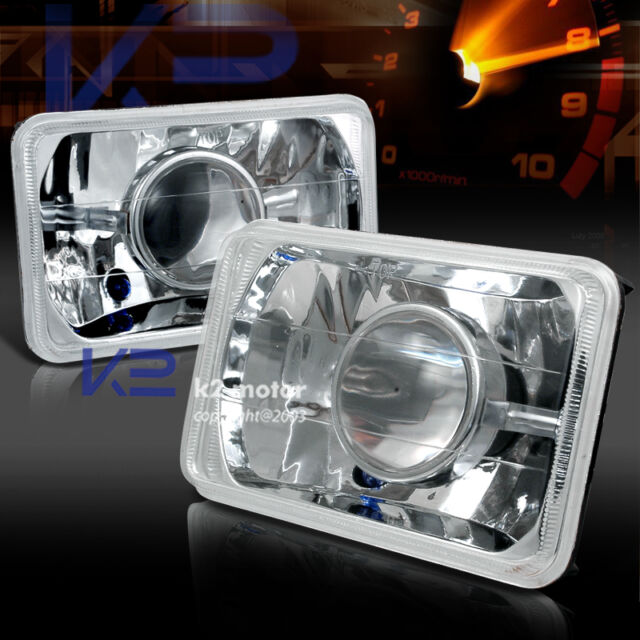 7X6 Square Crystal H4 Conversion Projector Headlights
