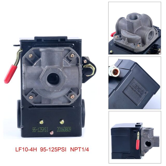Four PORT LEFOO Pressure Switch 95-125 PSI with unloader for Air Compressor