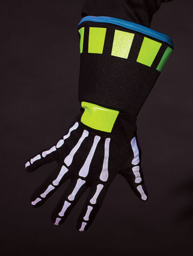 Haunted Rave Ravin Skeletech Adult Gloves Costume Skeleton Black Light Glow