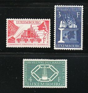 Luxembourg-1956-MNH-Mi-552-554-Sc-315-317-European-Coal-amp-Steel-Community-XF