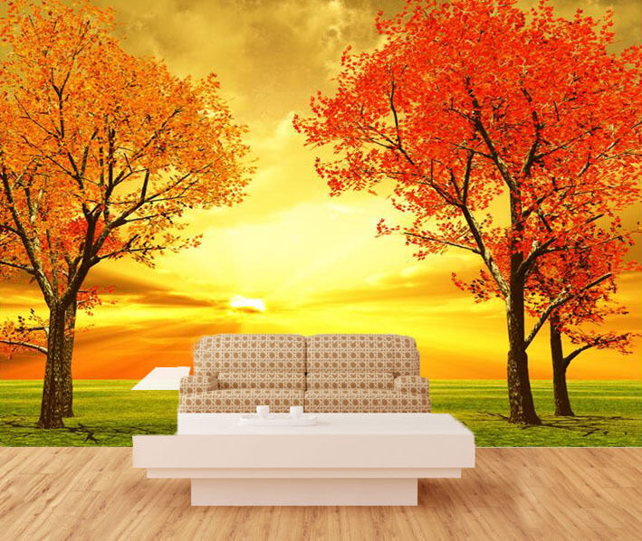 3D Afterglow Maple Fields 26 Wall Paper Wall Print Decal Wall Deco Indoor Wall