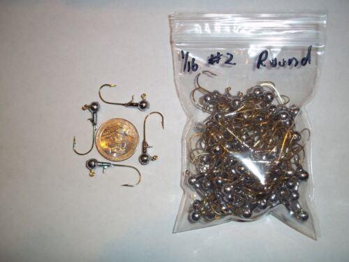 GOLD 100ct 1//16oz #2 ROUND HEAD LEAD HEAD JIG EAGLE CLAW