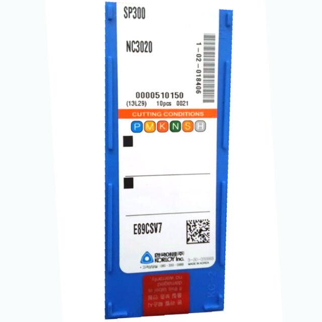 10 new KORLOY SP300 Grade NC3020 Carbide Inserts