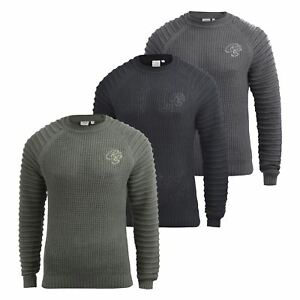 Mens-Knitwear-Crosshatch-Sweater-Top-Pullover-Knitted-Jumper