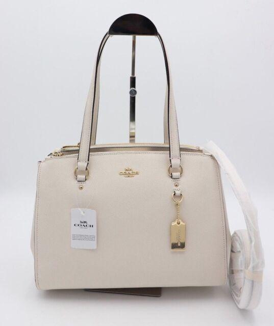 b034dae446 NWT Coach Stanton 29 White Chalk Carryall Satchel Shoulder Bag Purse 37147  New