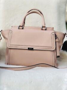 NWT-BRAHMIN-TAYLOR-BLOSSOM-PINK-GALVESTON-SATCHEL-BAG-Genuine-Leather-385