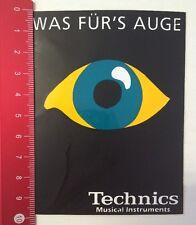 Aufkleber/Sticker: Technics Musical Instruments - Was Für's Auge (05031650)