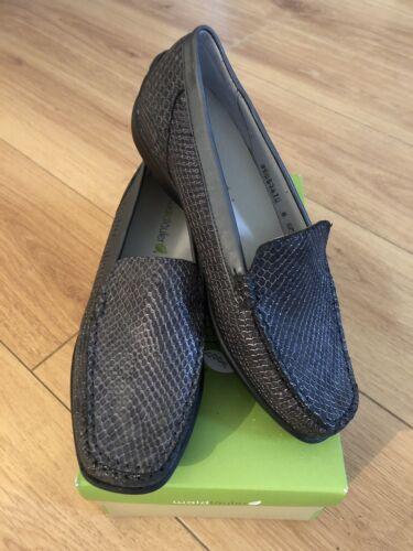 Loafer Brand E taglia flat croc pelle faux Waldlaufer Uk New Ladies in 6 grigia di taglia Otxrc1OZqw