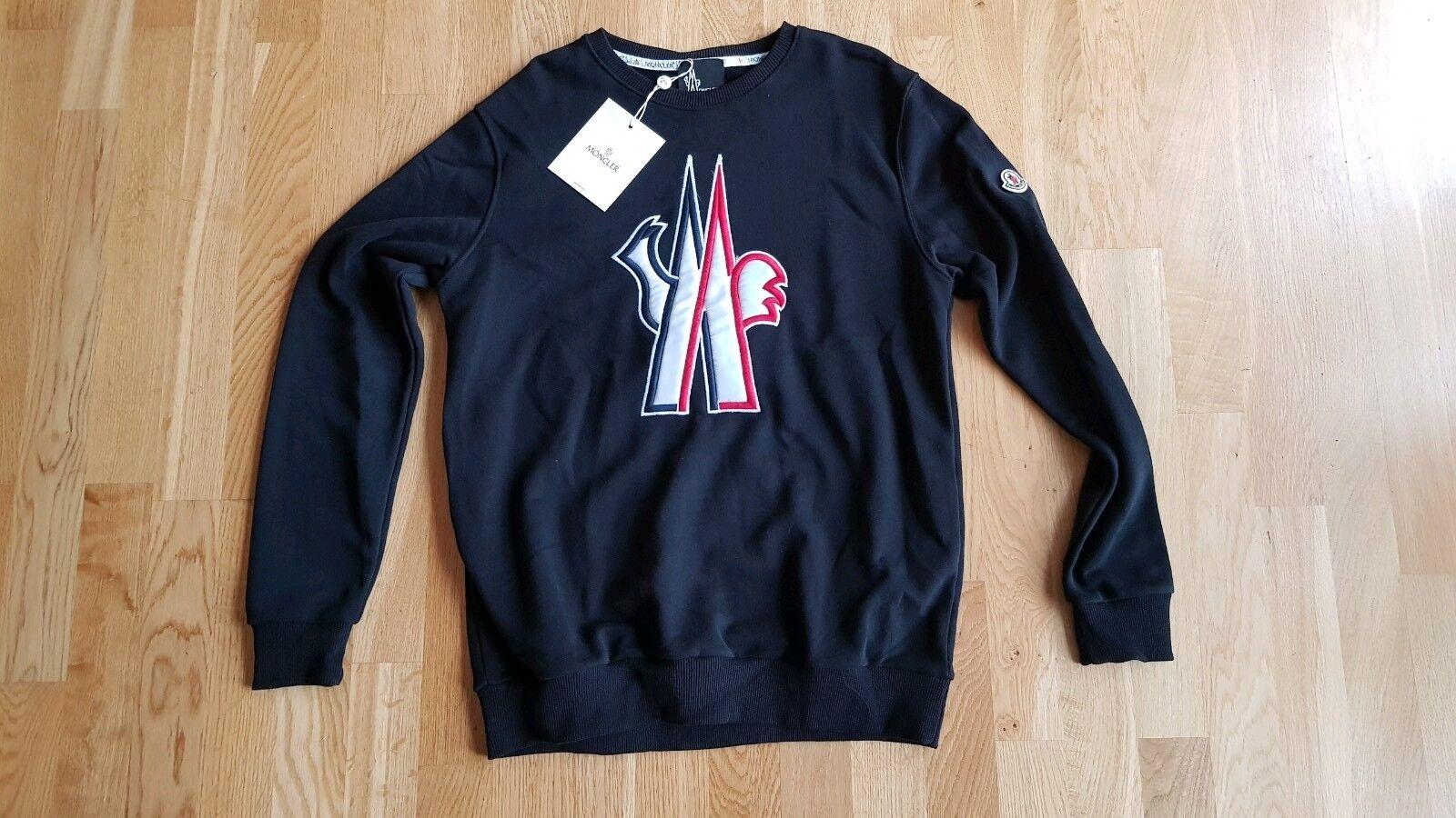NEU Moncler Herren Pullover Herrenpullover Gr. Lschwarz modern Logo Shirt