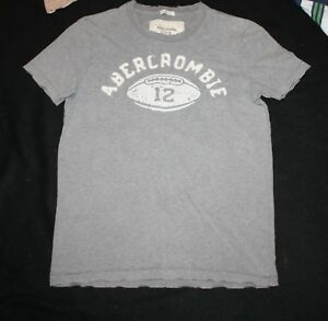 27380506 Men Abercrombie & Fitch Grey Football Muscle T- Shirt Size S | eBay