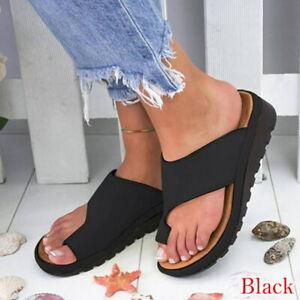 Femme-Ete-Plage-Sandales-Tongs-Fille-Chaussures-Pantoufles-Flip-Flop-Compensee