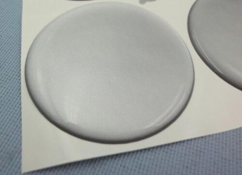 4 plata emblemas para tapacubos llantas tapa 51mm silicona pegatinas 3d 1319