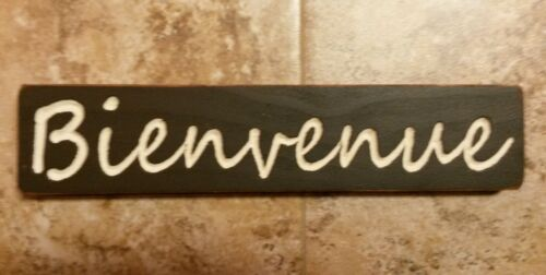 Bienvenue Large Sitter Sign Cajun country Shabby handmade You choose colors