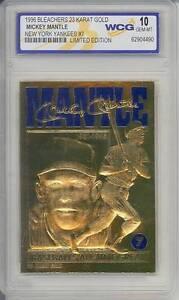 MICKEY-MANTLE-1996-23KT-Gold-Card-Baseball-039-s-All-Time-Great-GEM-MINT-10-BOGO