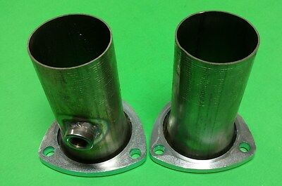 "3.00/"" TO 2.50/"" 409 STAINLESS 3 BOLT HEADER SOCKET W//02 BUNG COLLECTOR REDUCER"