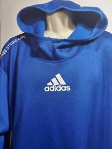 La risa Adjunto archivo Cabina  Nuevo Para Hombre Adidas Mangas Largas Pullover Sudadera Con Capucha Azul  Talla 3XL vida Climawarm | eBay