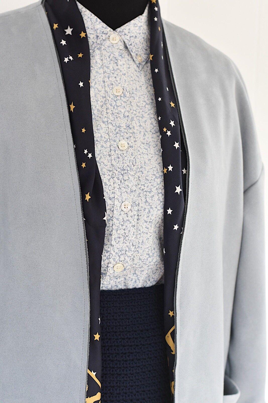 Equipment Femme Floral Longsleeve Button Down Shirt Collarot Blau Sz S