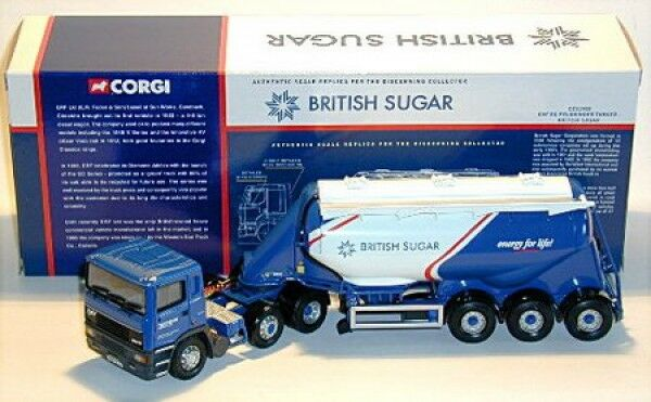 ERF EC Feldbinder petroliera British zucchero, Corgi, 1:50
