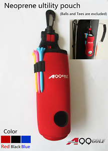 A99-Golf-Neoprene-Utility-Pouch-II-Golf-Balls-Holder-Tees-Accessories-Bag