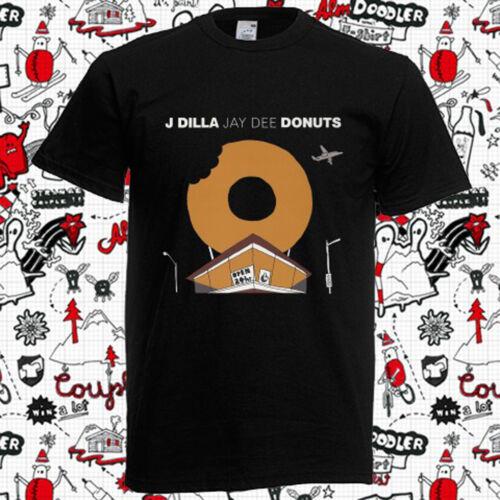 New J Dilla Jay Dee Donuts Rap Hip Hop Music Men/'s Black T-Shirt Size S-3XL