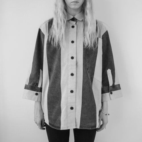 Hemd baumwolle streifen S Cheap Monday Whopping shirt striped boxy HOF115