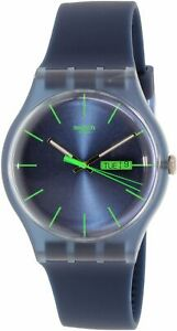 Swatch-Men-039-s-Originals-SUON700-Blue-Silicone-Quartz-Fashion-Watch