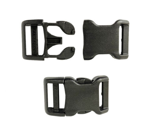 "Webbing YKK Straps buckles kit 3//4/"" Plastic Buckle Side-Release Single Adjuster"