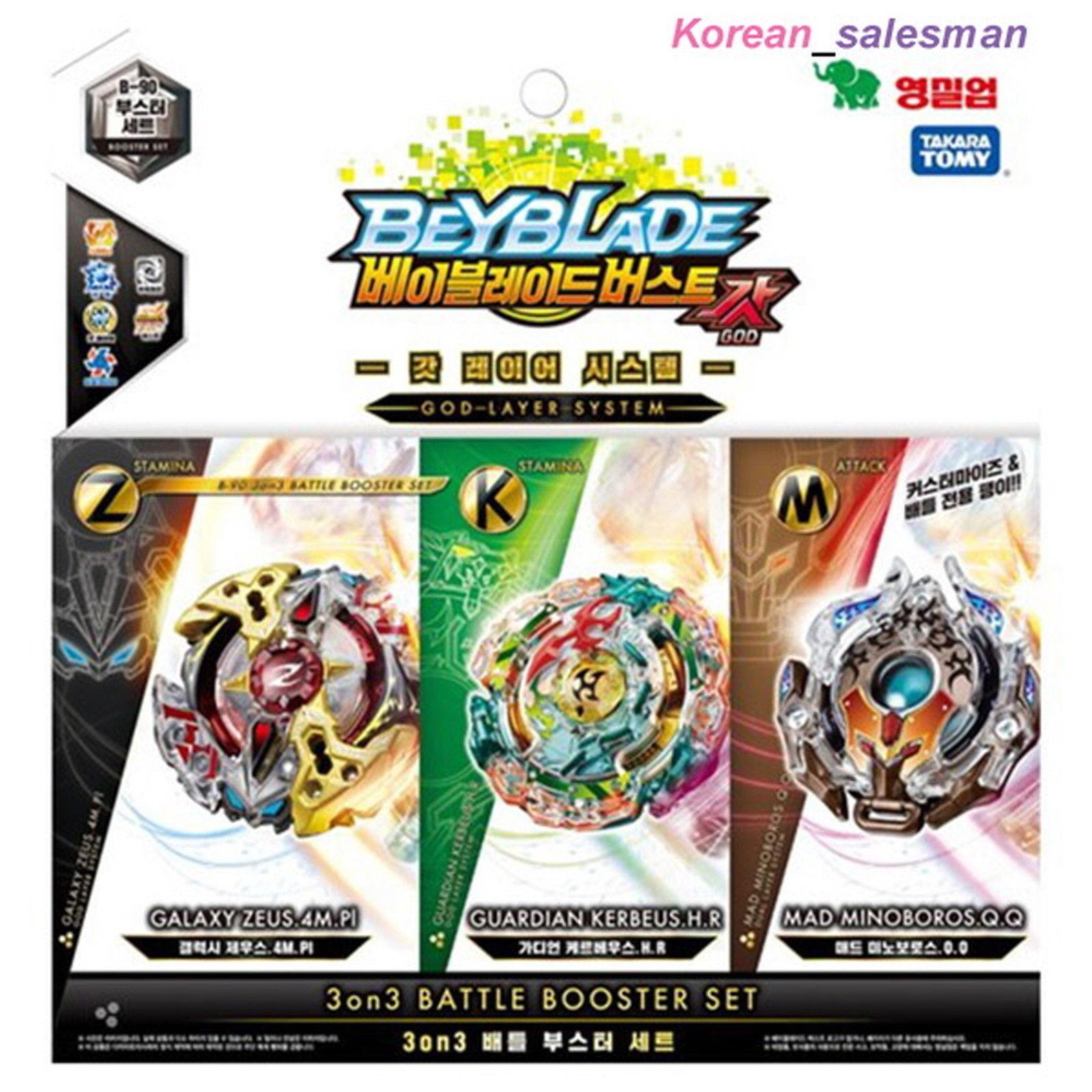 BEYBLADE BURST 3on3 BATTLE BOOSTER SET SET SET B-90 Galaxy Zeus, Kerbeus, Mad Minobgolds 9921af