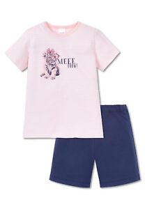 Schiesser-Schlafanzug-Shorty-Maedchen-rose-104-140-NEU-161235