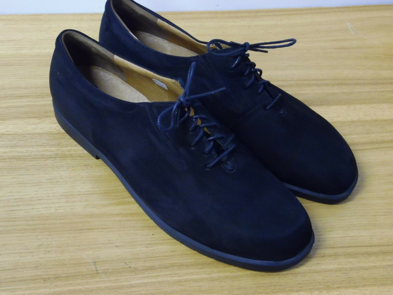 Mens  Berkemann Berkemann Berkemann black suade lace up oxfords dress casual size 9 7fa5a4