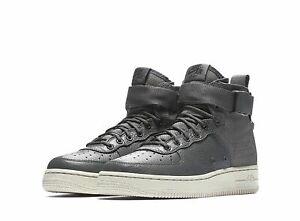 Nike-SF-Air-Force-1-Mid-GS-Dark-Grey-Bone-Basketball-Shoes-Sz-6-5Y-AJ0424-002