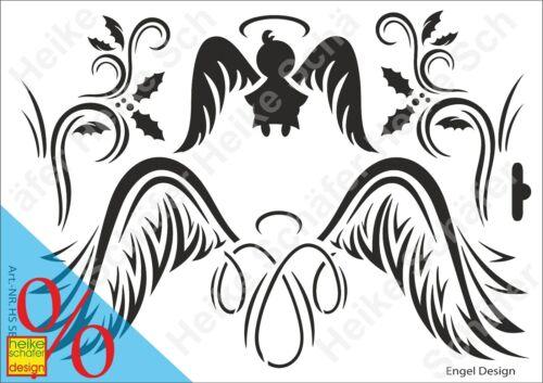 Heike Schäfer Design Neu Schablone-Stencil A4 077-1141 Engeldesigns
