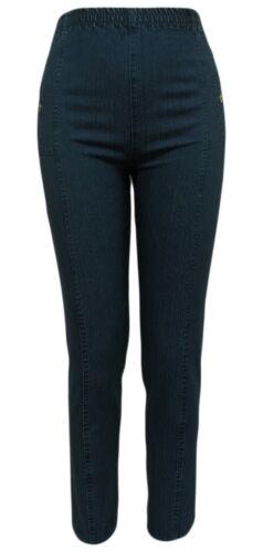 Jeanshose mit Gummizug Stretchhose Elasthan Damen Schlupfhose Freizeithose