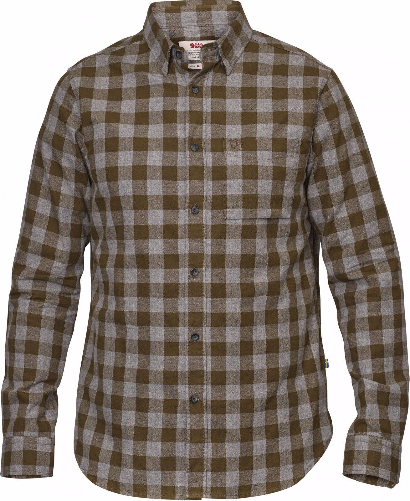 Fjällräven övik Check camisa LS, caqui de manga larga-T-Shirt