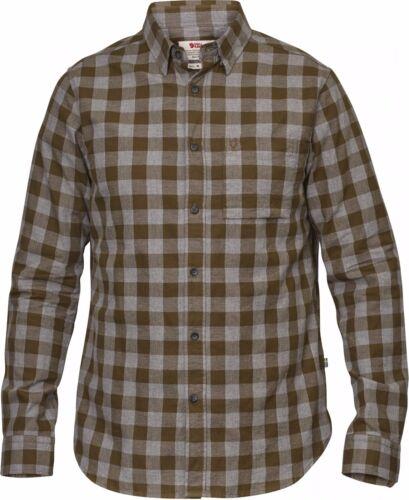 kaki manches longues-T-Shirt Fjällräven Övik Check Shirt Ls