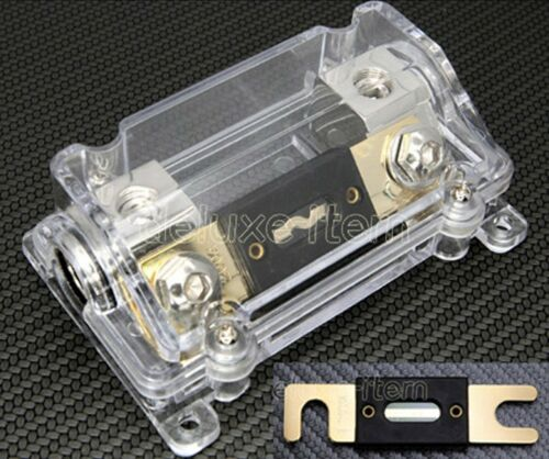 IN CAR AUDIO VIDEO STEREO SILVER ANL FUSE HOLDER 0 2 4 GAUGE 300 AMP 300A 125S