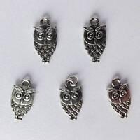[wamami]5pcs Sliver Metal Owl Pendant Charms Bjd Dollfie Necklace Diy Accessory