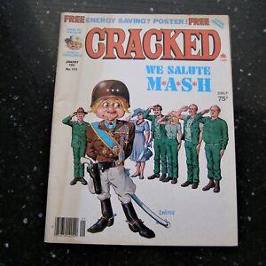 CRACKED Magazine #175 January 1981 We Salute MASH TV Show MAD ~ Free Shipping