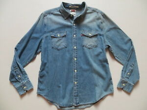 Levi-039-s-Jeans-Hemd-Jeanshemd-Gr-L-NEU-Western-Vintage-Denim-mit-Taschen