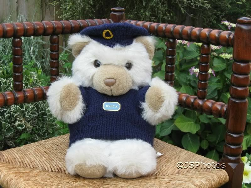 PMS LTD UK RSPCA Police Bear Handknitted Sweater and Hat