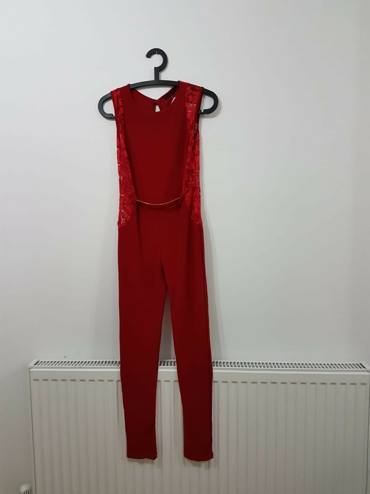 Young Blood Red Jumpsuit Size M L Ladies Jumpsuit Red Outfit Gift For Her