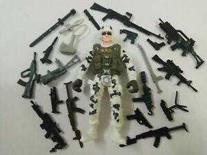 "3.75/"" Gi Joe  soldier  with 5pcs weapons random   Rare Action Figure"
