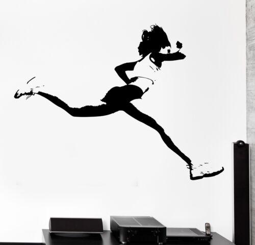 z3030 Wall Sticker Running Runner Jog Jogging Girl Woman Female Vinyl Decal