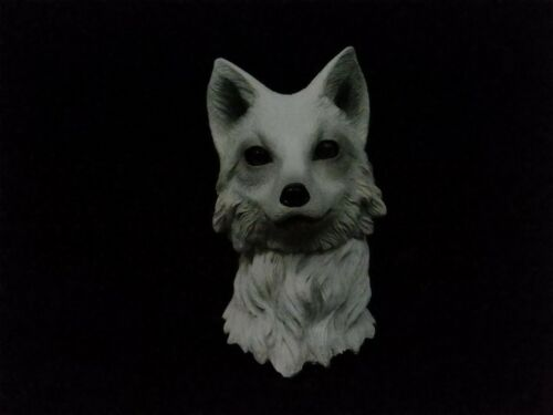 1//6  Animal Figures White Head Carved Wolf Head Sculpt Model Collection