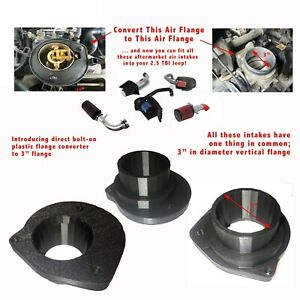 "Jeep Wrangler/ Comanche  TBI 87-90 4 Cyl. 2.5  3"" Throttle Body Flange Converter"